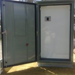 Custom built cubicles - 3 point locking - weather seals